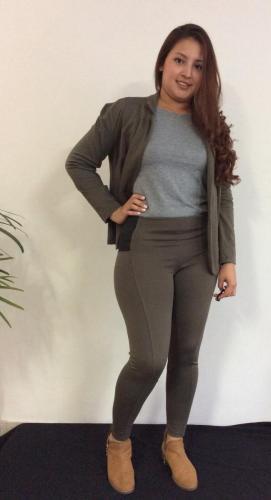 Leggings con Elastico costado y chaqueta